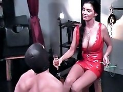 Thick-cocked stud is oppressed and humiliated for his mistress�s amusement
