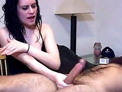 Bruised cock forced to cum through hard slapping