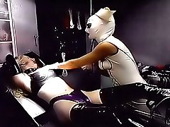 Dominant nurse punishes a slave girl