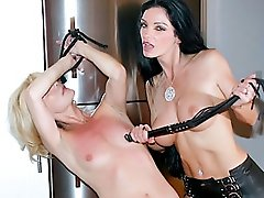 Mistress Carmen loves tormenting her blonde plaything